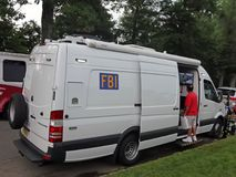 FBI Vehicle At The National Night Out Stock Image