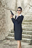 FBI woman agent. FBI woman agent in action Royalty Free Stock Photos