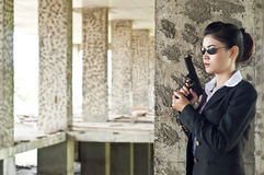 FBI woman agent. Royalty Free Stock Photos