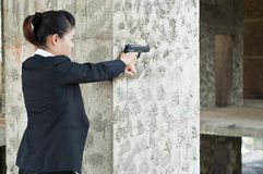 FBI woman agent. FBI woman agent in action Stock Photo