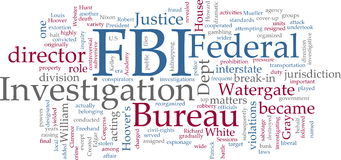 FBI word cloud Stock Photography