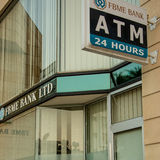 FBME Bank. Branch in Nicosia, Cyprus. Following an announcement of US Treasury Financial Crimes Enforcement Network (FinCEN), the Central Bank of Cyprus CBC stock images