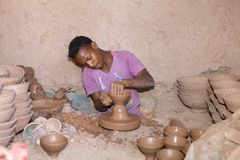 Fábrica da cerâmica Imagem de Stock Royalty Free