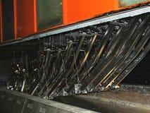 Fábrica de acero galvanizada Fotografía de archivo