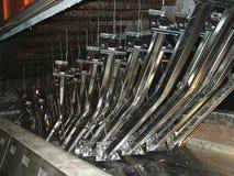 Fábrica de acero galvanizada Fotografía de archivo libre de regalías