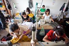 Fábrica de la materia textil Foto de archivo libre de regalías