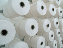 Fábrica de la materia textil Fotografía de archivo libre de regalías
