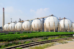 Fábrica do petróleo Fotos de Stock