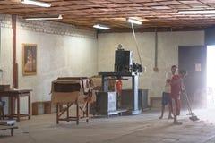 Fábrica peruana del tabacco Foto de archivo libre de regalías
