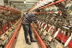 Fábrica turca de la materia textil Imágenes de archivo libres de regalías