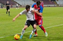 FC沃伦塔里- Steaua布加勒斯特 库存照片