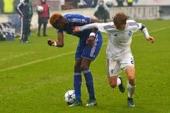 FC迪纳莫队对FC切尔西 U-19欧洲联赛冠军杯 免版税库存图片