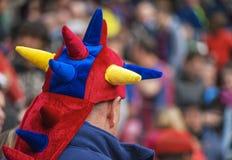 FC ανεμιστήρας της Βαρκελώνης Στοκ φωτογραφία με δικαίωμα ελεύθερης χρήσης