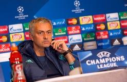 FC διευθυντής Jose Mourinho της Chelsea στοκ εικόνες