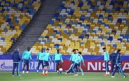 FC περίοδος άσκησης της Chelsea στο στάδιο NSC Olimpiyskyi στοκ φωτογραφία με δικαίωμα ελεύθερης χρήσης