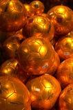 FC χρυσά ποδόσφαιρα της Βαρκελώνης Στοκ Φωτογραφίες