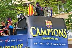 FC Барселона - UEFA Champions победитель 2011 лиги Стоковые Изображения
