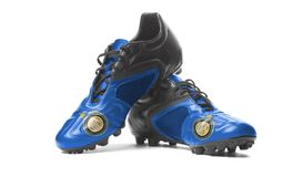 FC интер- Internazionale Milano - ботинки футбола Стоковые Изображения