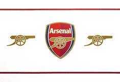 FC Arsenal Emblem. Official emblem of the football club Arsenal, London Stock Image