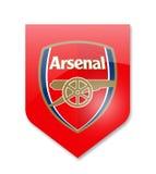 Fc arsenal. Arsenal premier league team on white Stock Images