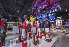 In FC Arsenal store Stock Image