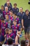 FC Barcelona объединяется в команду представление Стоковое Изображение RF