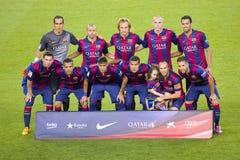 FC Barcelona 2014 до 2015 Стоковое Изображение