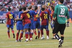 FC Barcelona. Celebrate goal against New York Red Bulls Stock Image