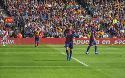 FC Barcelona in action Stock Photos