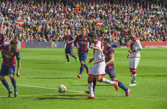 FC Barcelona in action Stock Images