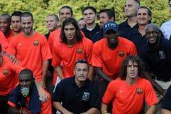 FC Barcelona & NYPD Foto de Stock