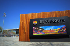 FC Barcelona Camp Nou stadium entrance Stock Photo