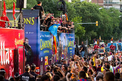 FC Barcelona cavalcade Royalty Free Stock Photo