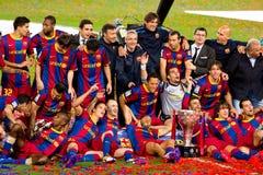 FC Barcelona celebration Stock Images