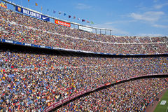FC Barcelona: The Crowds at Camp Nou Royalty Free Stock Photos