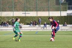 FC Barcelona das mulheres - Melanie Serrano Fotos de Stock Royalty Free