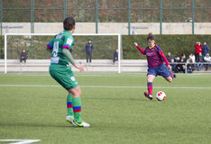 FC Barcelona das mulheres - Melanie Serrano Fotografia de Stock Royalty Free