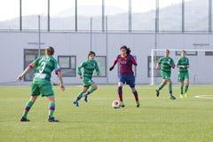 FC Barcelona das mulheres - Miriam Dieguez Fotografia de Stock Royalty Free