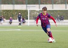 FC Barcelona das mulheres - Sonia Bermudez Fotografia de Stock Royalty Free