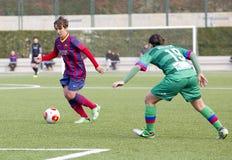 FC Barcelona das mulheres - Sonia Bermudez Imagem de Stock