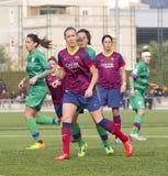 FC Barcelona das mulheres - Virginia Torrecilla Imagem de Stock Royalty Free