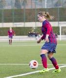 FC Barcelona de las mujeres - Jelena Cankovic Foto de archivo