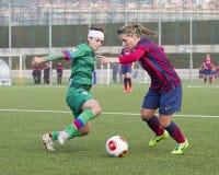 FC Barcelona de las mujeres - Jelena Cankovic Fotografía de archivo