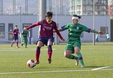 FC Barcelona de las mujeres - Marta Corredera Foto de archivo libre de regalías