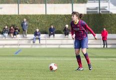 FC Barcelona de las mujeres - Melanie Serrano Foto de archivo libre de regalías