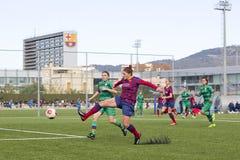 FC Barcelona de las mujeres - Ruth Garcia Imágenes de archivo libres de regalías