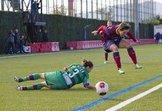 FC Barcelona de las mujeres - Sonia Bermudez Foto de archivo