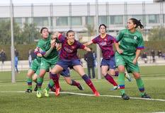 FC Barcelona de las mujeres - Virginia Torrecilla Imagen de archivo libre de regalías