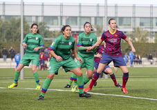 FC Barcelona de las mujeres - Virginia Torrecilla Foto de archivo libre de regalías