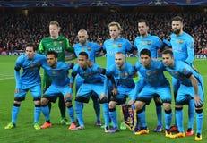 FC Barcelona dell'arsenale FC v - un giro della lega di campioni di UEFA di 16: Prima gamba Immagini Stock Libere da Diritti